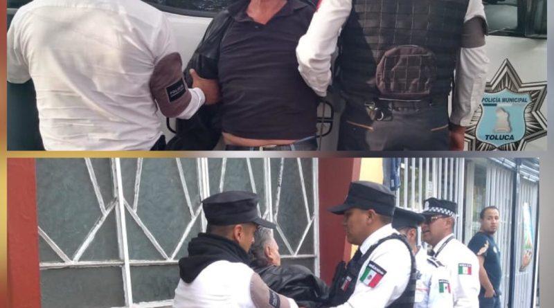 Cadetes de la Municipal de Toluca aprehenden a masculino por acosar a una adolescente
