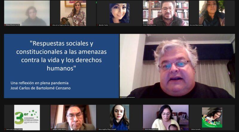 DERECHOS CIVILES Y POLÍTICOS, LOS MÁS AFECTADOS EN EL CONTEXTO DE LA PANDEMIA DE COVID: DR. JOSÉ CARLOS DE BARTOLOMÉ