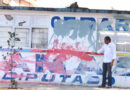 Vandalizan propaganda del candidato a Diputado local por el Distrito 34, Gerardo Lamas